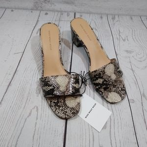 Who What Where grey Jacey snake skin print heels